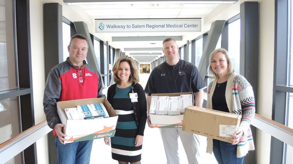 Salem City Schools donates medical supplies