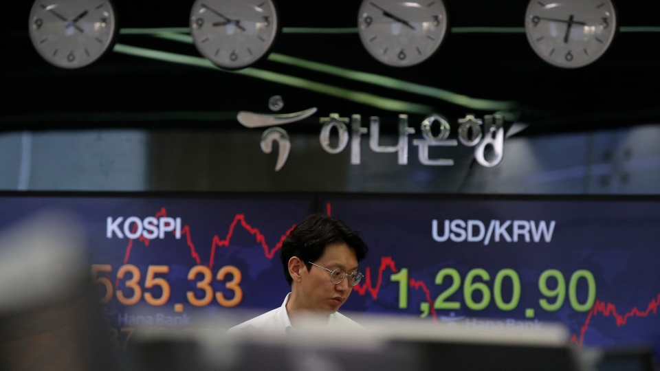Stocks jump 5% as hopes build for virus stimulus package.