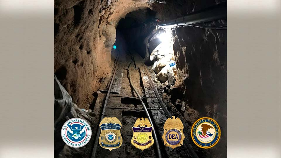 US finds major cross-border tunnel used to smuggle drugs.