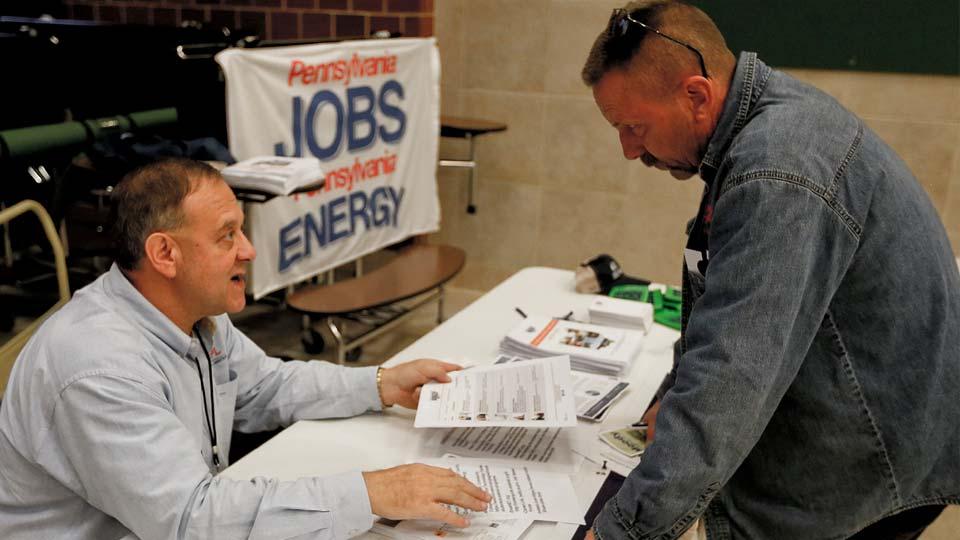 US job market looked robust before virus outbreak escalated.