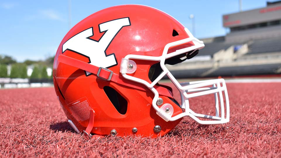 YSU football helmet