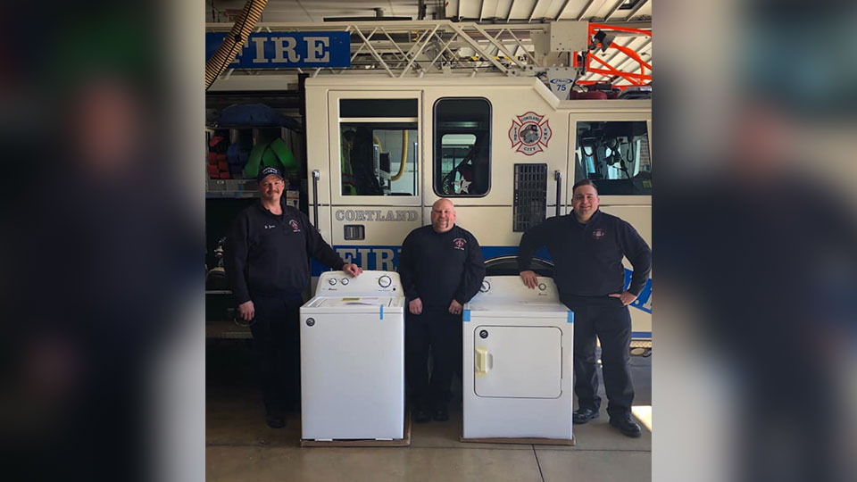 Cortland Fire Department washers and dryers