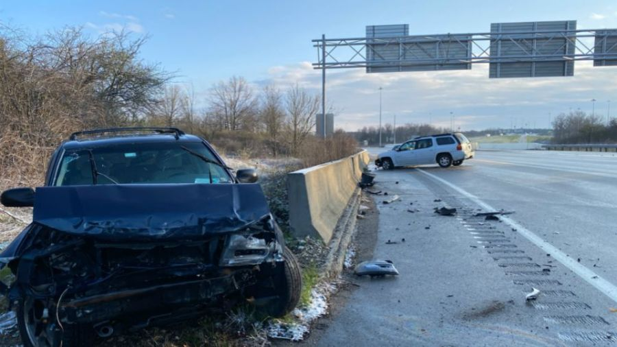 There have been several reports of crashes across the Valley Thursday because of icy roads.