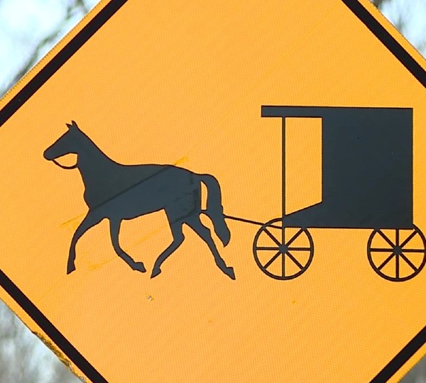 Amish buggy crossing sign