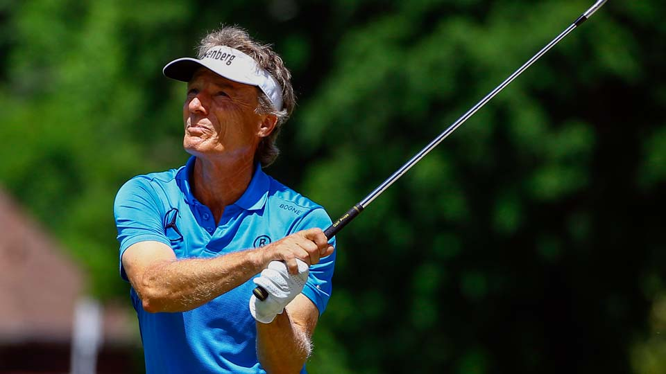 Bernhard Langer of Germany during the final round