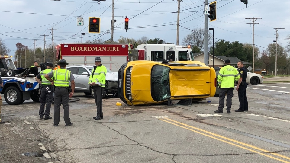 Market Street and Western Reserve crash in Boardman.