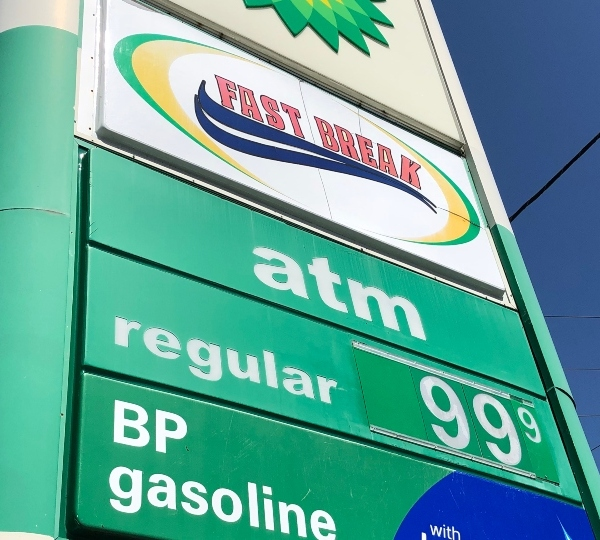 BP 99 cents gas prices in Howland.