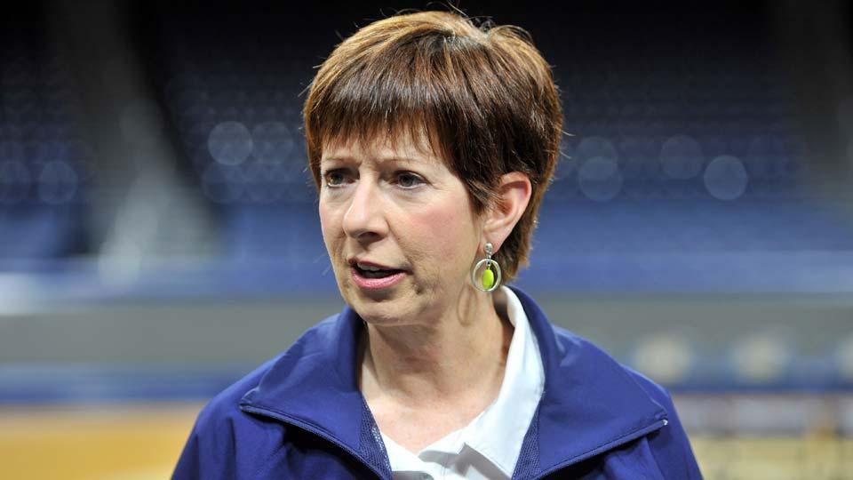 Notre Dame women's basketball coach Muffet McGraw