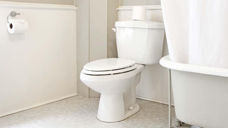 White toilet, generic