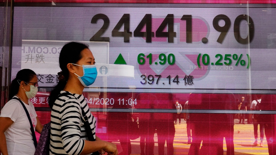 World shares turn lower as US oil contract slides.