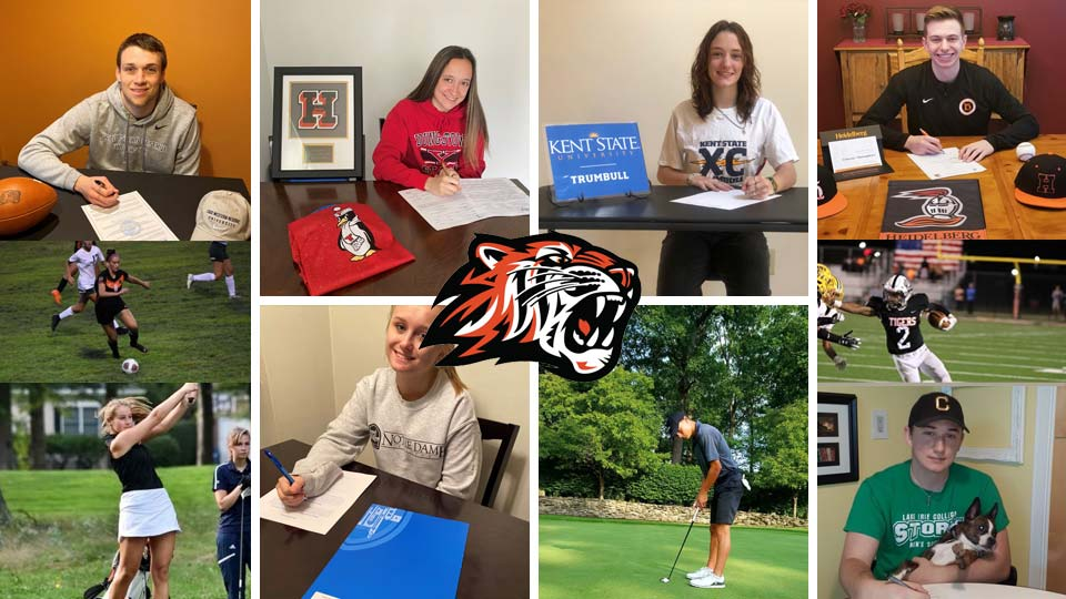 Howland Tigers High School athletic commitments