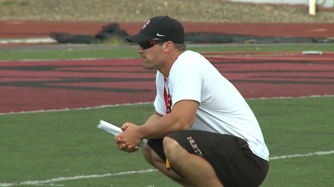 Watch New Castle head football coach Joe Cowart's reaction to safety Geno Stone being selected by the Baltimore Ravens Saturday