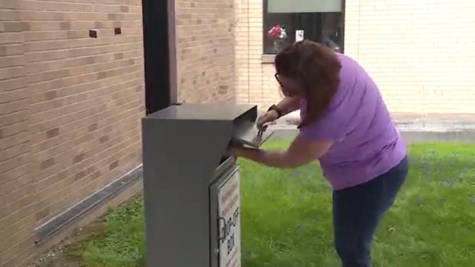 Mahoning County ballot drop-off box