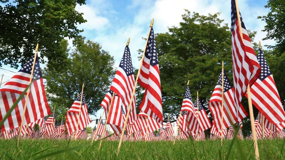 Memorial Day, Veterans Day, American Flag