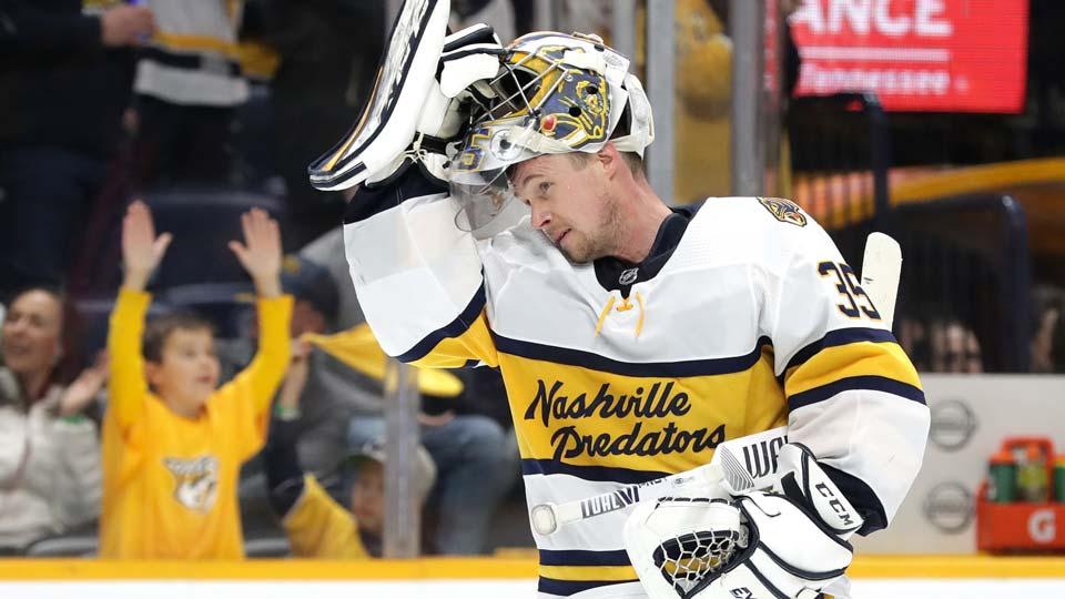 Nashville Predators goaltender Pekka Rinne