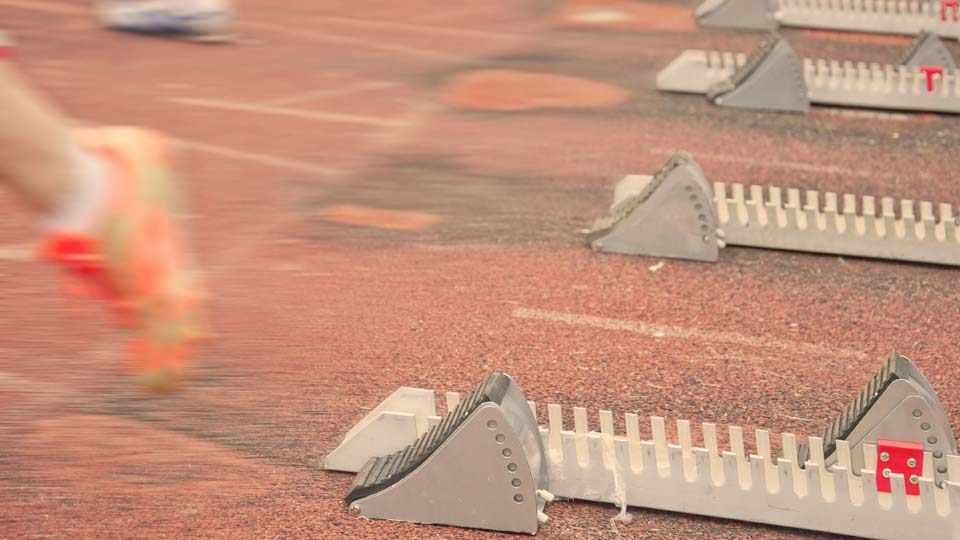 Olympic Track, Starting Block, Track and Field