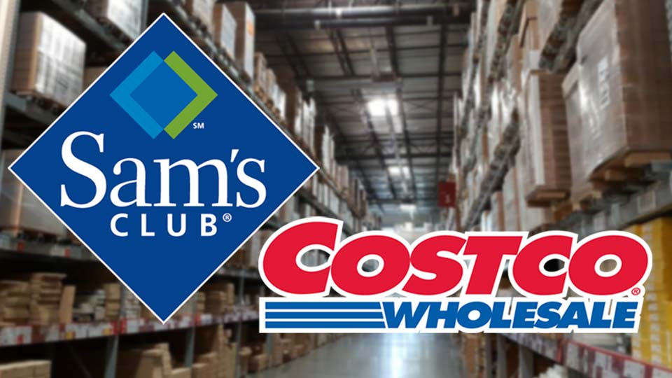 Sam's Club, Costco Stores