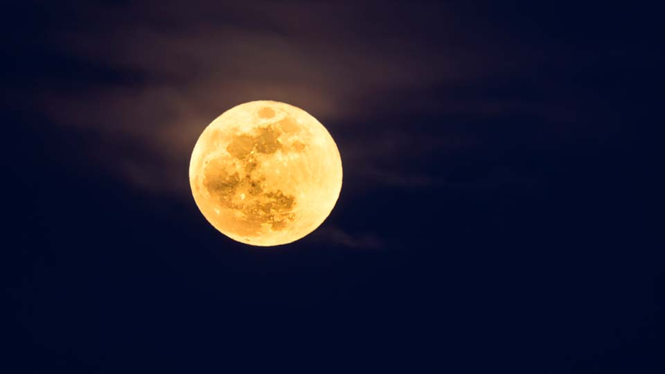 Supermoon with clear skies