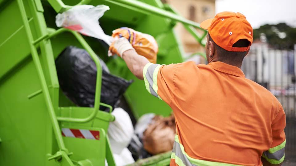 Trash collector, garbage, garbage truck