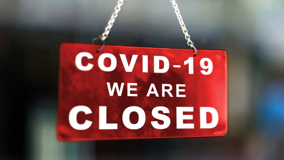 COVID, Coronavirus, Restaurants, Businesses Closed