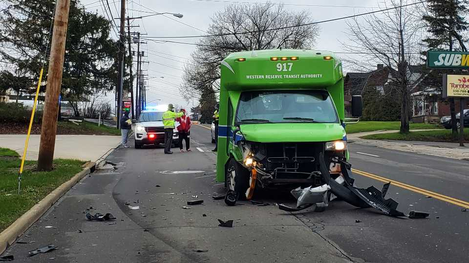 A Western Reserve Transit Authority bus driver is facing charges after a crash in Youngstown on Saturday morning.