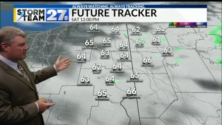 A cooler weekend on the way