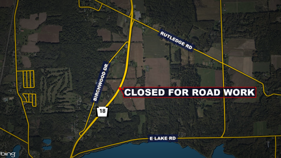 Closed for road work, Pymatuming Valley