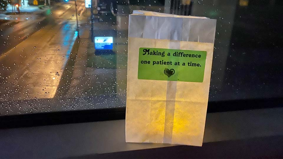 Trumbull Regional Medical Center thanks workers with luminaries