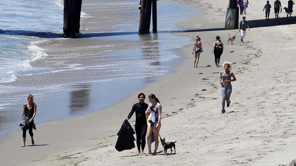 Los Angeles County beaches reopened Wednesday