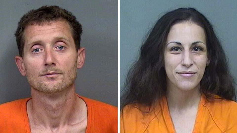 Christian Zanalli and Jennifer Zena, charged with child endangering and possession of drug paraphernalia in Boardman.