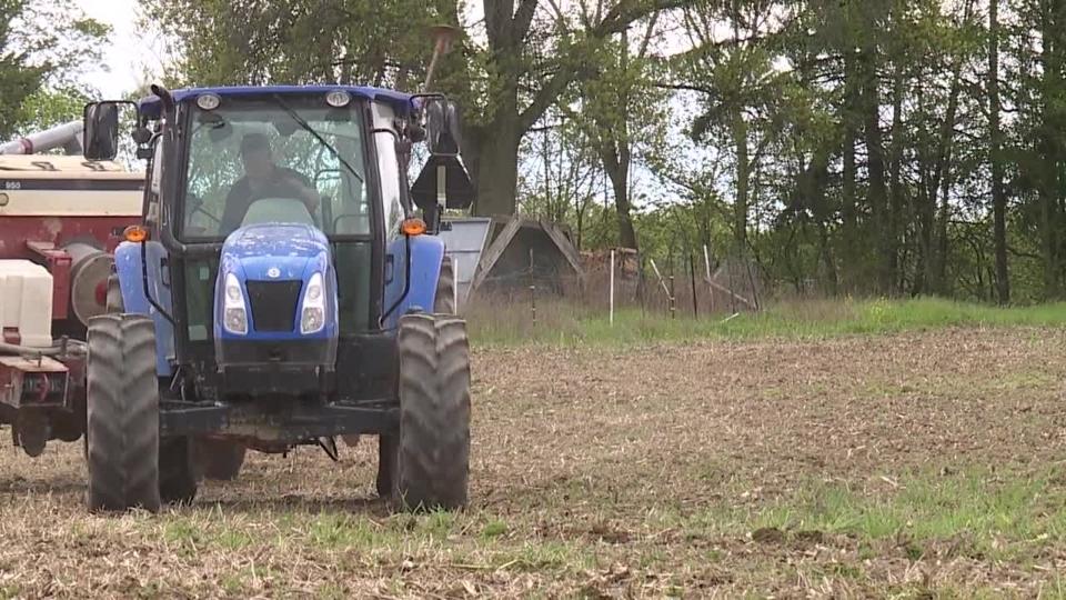 Farmer, farm, tractor, planting