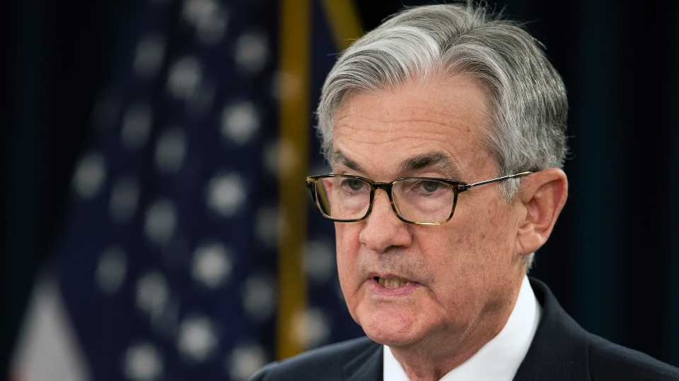 Federal Reserve Chair Jerome Powell speaks during a news conference following the Federal Open Market Committee meeting in Washington, Wednesday, Jan. 29, 2020.