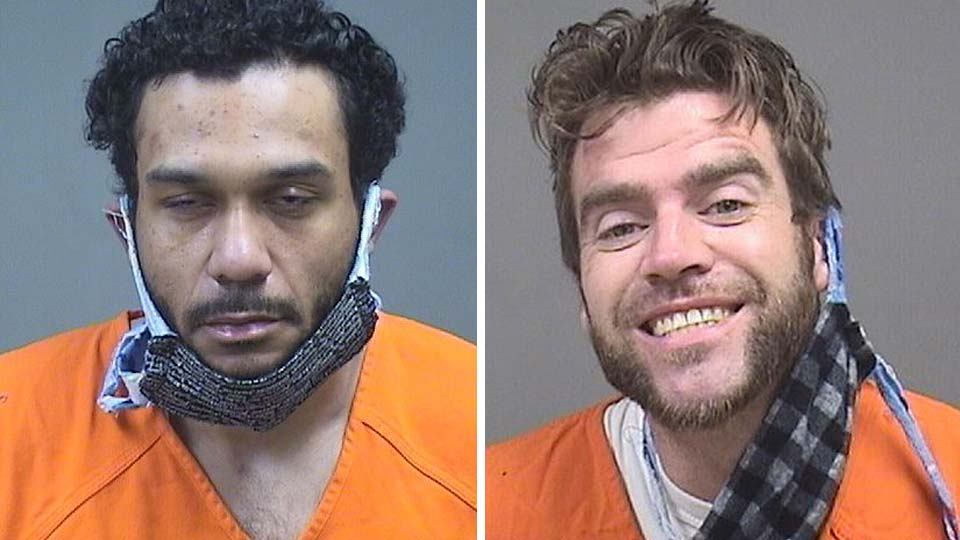 Jermaine Young and Bruce Bloomberge, both arrested in Boardman and charged with counterfeiting and possessing criminal tools.
