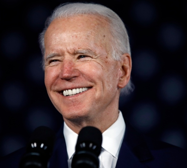 Democratic presidential candidate former Vice President Joe Biden speaks at a primary night election rally in Columbia, S.C.