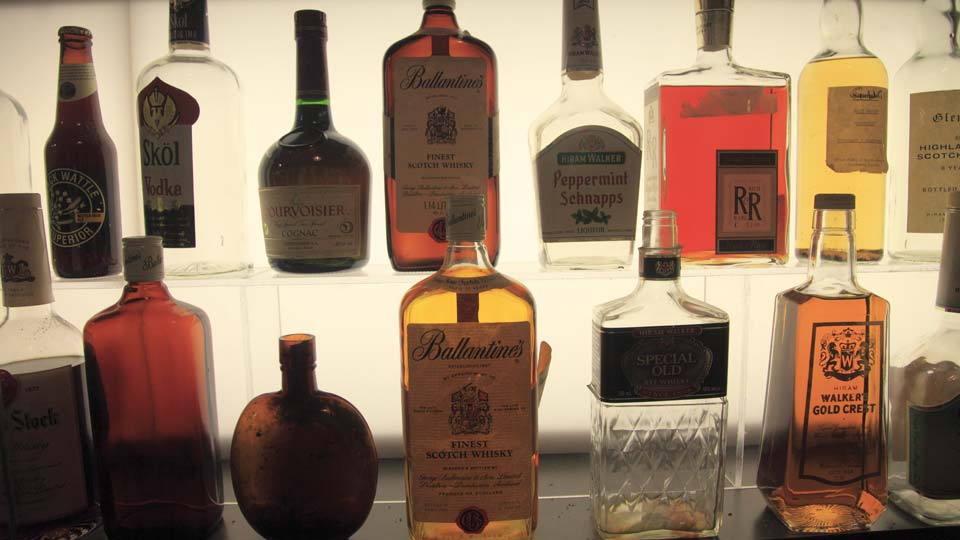 Alcohol bottles, Liquor