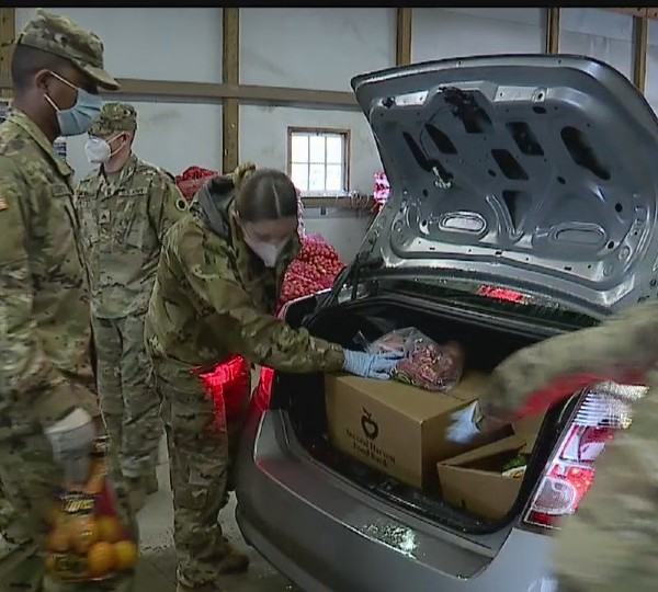 National Guard helps with traveling food pantry in Canfield