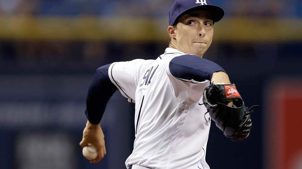 Tampa Bay Rays starting pitcher Blake Snell