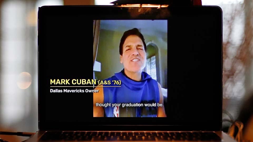 Mark Cuban is one of many celebrities guest speakers around the country for virtual graduation ceremonies