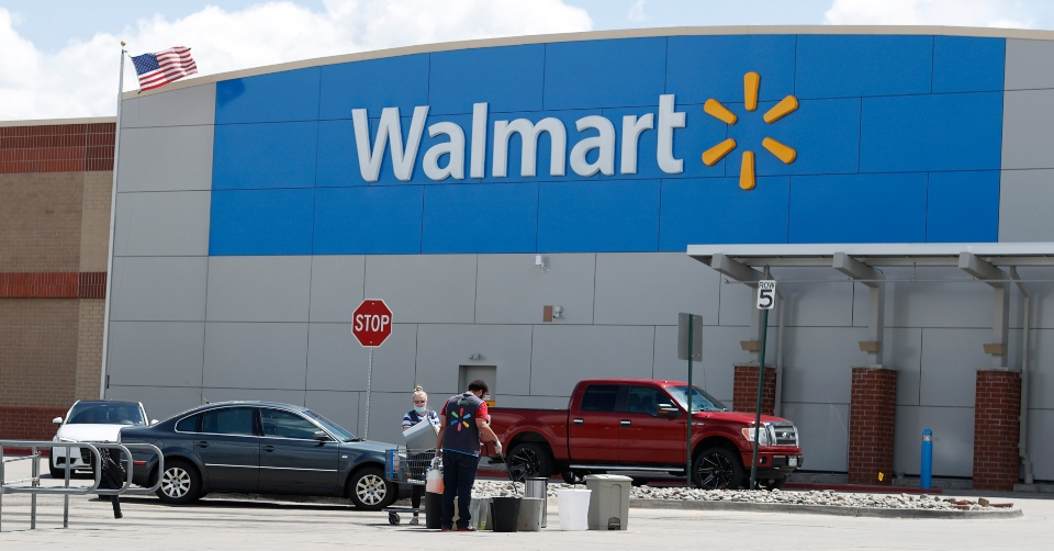 As Walmart becomes a lifeline, online sales surged 74%.
