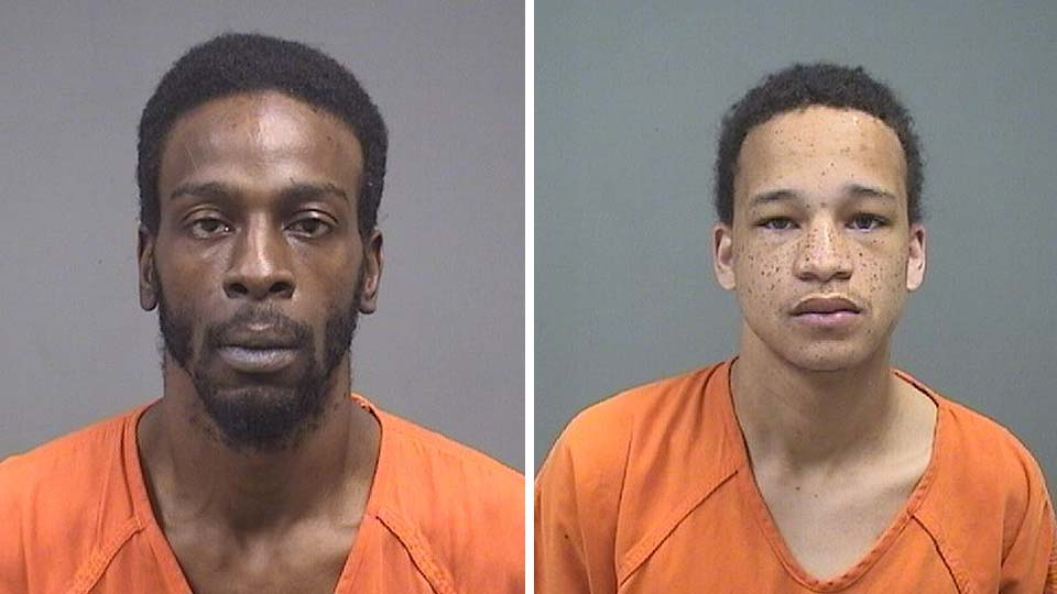 Elliott Julious and Wally Moxley, charged with drug possession in Youngstown.