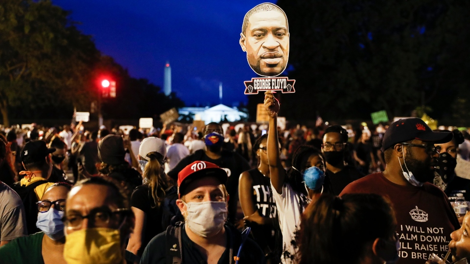 Largely peaceful protests against police brutality march on.