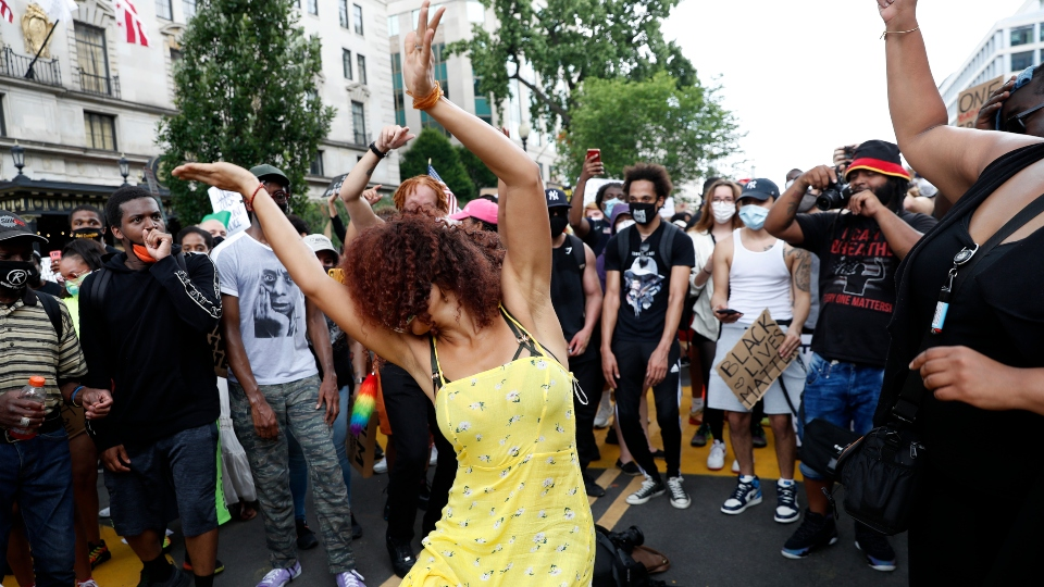 Washington protesters express optimism after week on edge.
