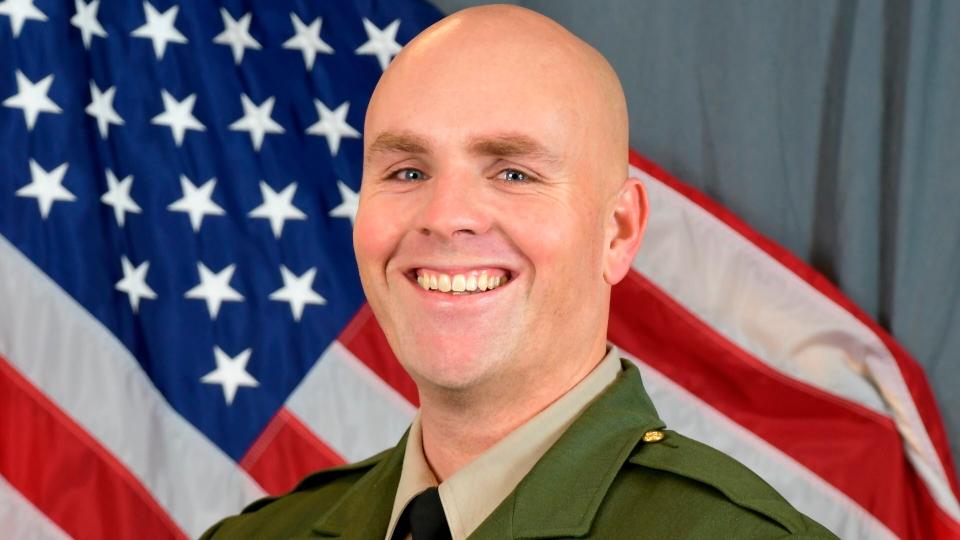 Deputy killed in California ambush by Air Force sergeant.