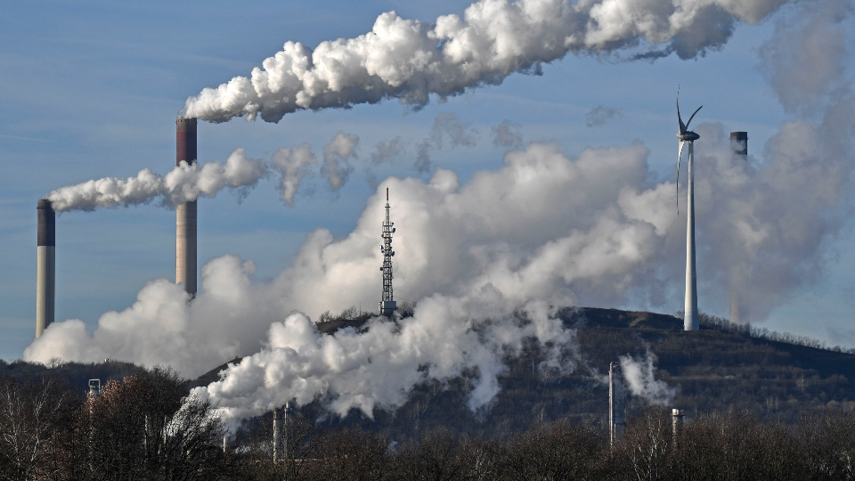 Heat-trapping carbon dioxide in air hits new record high.