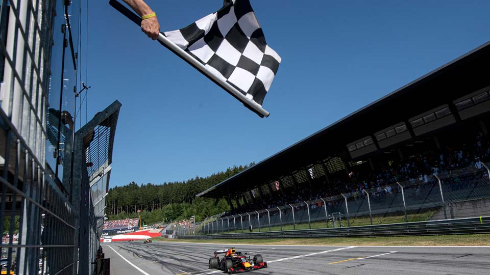 view of the Red Bull Ring racetrack in Spielberg, southern Austria