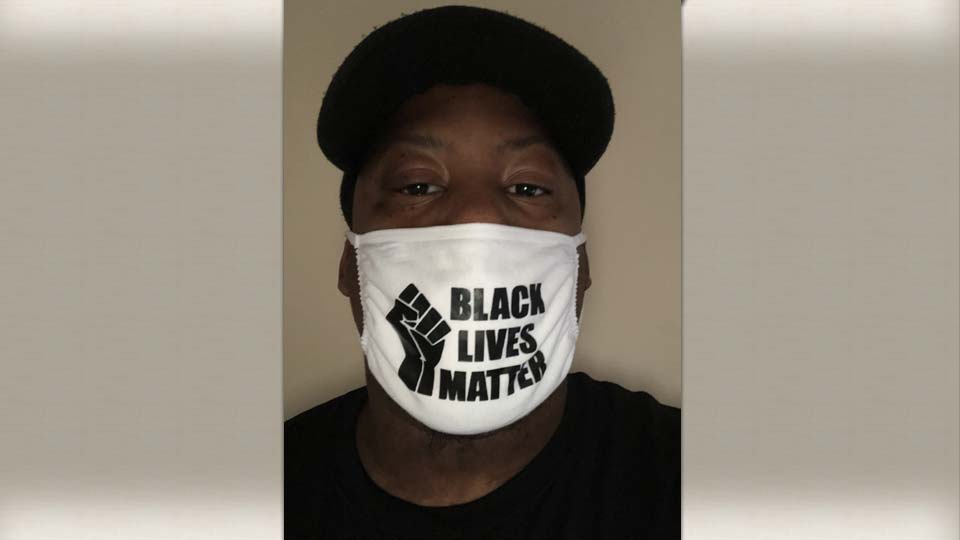 Denzel Skinner, Black Lives Matter mask