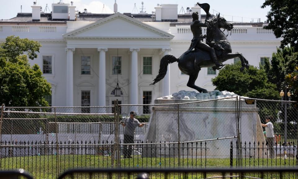 Lafayette Park, Washington D.C., Andrew Jackson statue vandalism