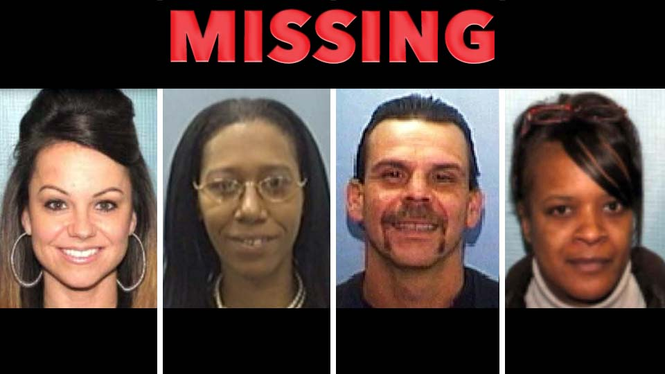 Missing Persons: Amy Hambrick, Samantha Joseph, Dean Donnadio, Kimberly Wilson-Talley