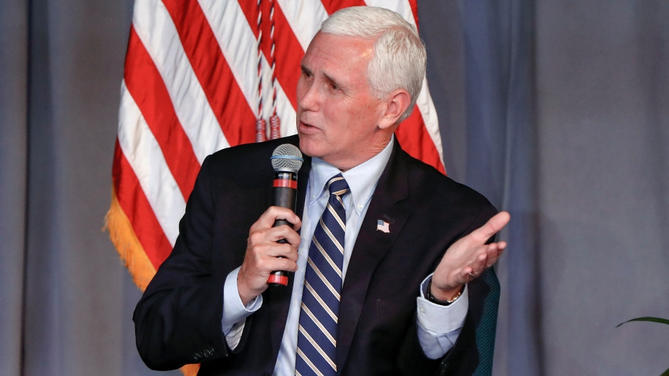 Pence hits Pennsylvania to talk comeback at challenging time.
