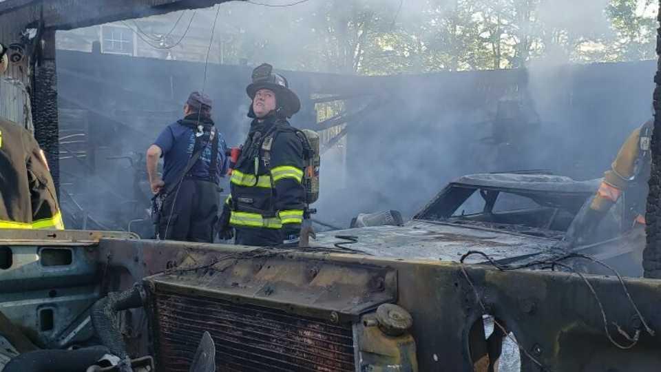 Sebring garage fire